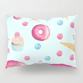Sugar Sweet Tooth Pattern in Blue Pillow Sham