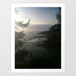 Sunset at the Bridge Art Print