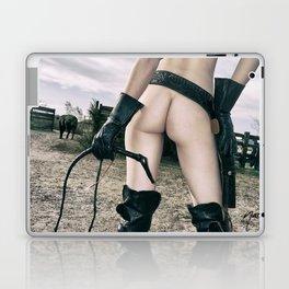3043 Cowgirl Mistress Cate Six Shooter - Bullwhipped Boudoir Erotic Laptop & iPad Skin
