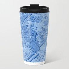 BLUE MARBLE EFFECT Metal Travel Mug