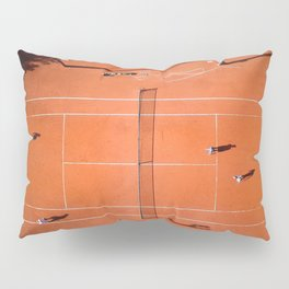 Tennis court orange Pillow Sham