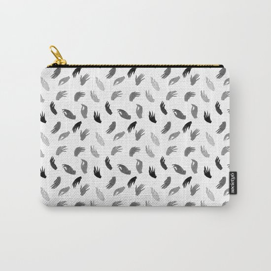 Hands B&W Carry-All Pouch