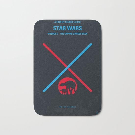 No155 My STAR Episode V The Empire Strikes Back WARS minimal movie poster Bath Mat