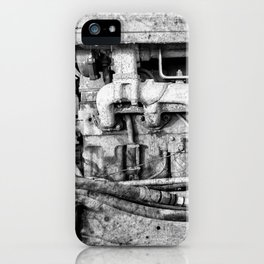 Vintage Engine Machine Block Grunge Grime iPhone Case