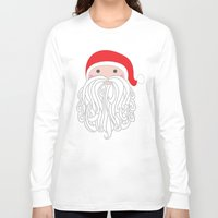 santa Long Sleeve T-shirts featuring Santa by Doucette Designs