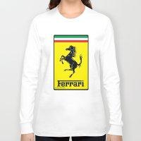 ferrari Long Sleeve T-shirts featuring FERRARI by Smart Friend