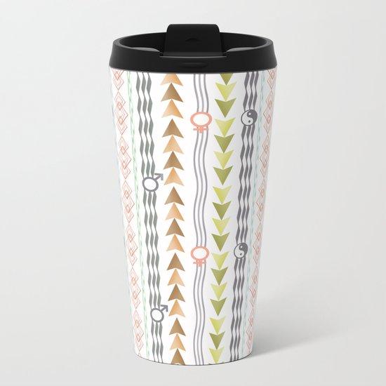 Abstract ethnic pattern. Metal Travel Mug