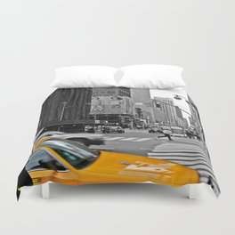 NYC Yellow Cabs Times Square - USA Duvet Cover