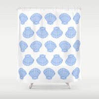 shells Shower Curtains featuring Shells by BIGEHIBI