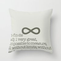 infinite Throw Pillows featuring Infinite by beesp