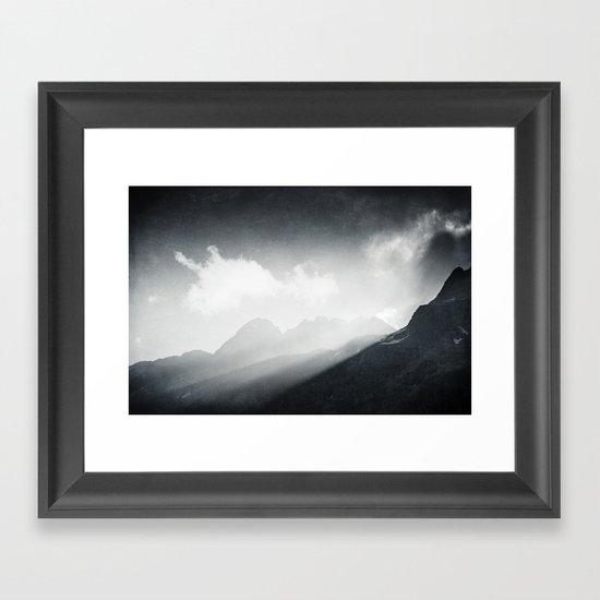Mountain Sunrise Framed Art Print