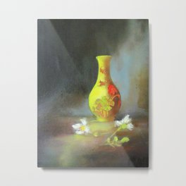 Yellow Vase Metal Print