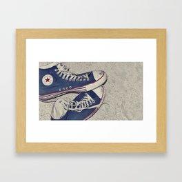 put your boots back on... Framed Art Print