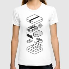 Bento Box White LARGE Womens Fitted Tee