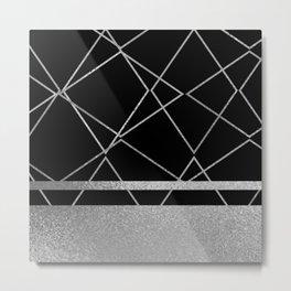 Silverado: Black Metal Print