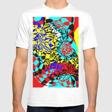 Color Bomb  MEDIUM White Mens Fitted Tee
