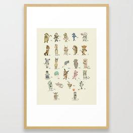 German ABC Framed Art Print