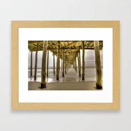 OC Fishing Pier Framed Art Print