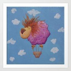The hot hair balion Art Print