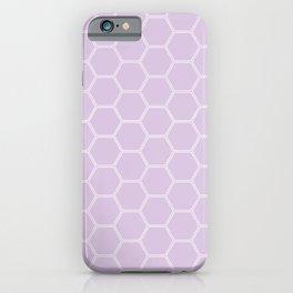 Geometric Honeycomb Pattern - Light Purple #288 iPhone Case
