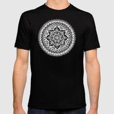 Yin Yang Mandala Pattern Mens Fitted Tee MEDIUM Black