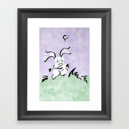 Bunny in love Framed Art Print