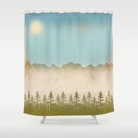 relax Shower Curtains featuring Relax by Tammy Kushnir