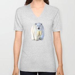 Polar bear in the icy dawn Unisex V-Neck