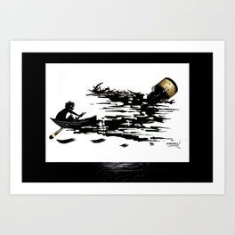 Ink Boat Art Print
