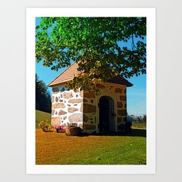 The Binder chapel (and some tree) Art Print
