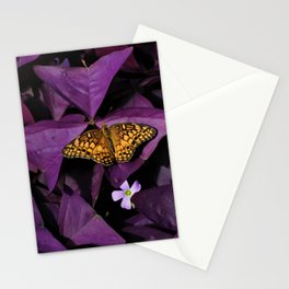 Purple Oxalis 2 Stationery Cards
