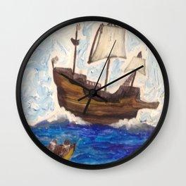The Same Boat Wall Clock