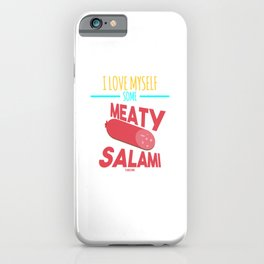 National Day salami sausage Italy Pizza iPhone Case