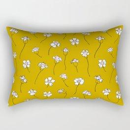 Dainty Wildflowers - Mustard & Blush Rectangular Pillow