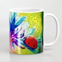 ladybug Mugs featuring ladybug by haroulita