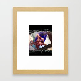 Firework Hand (Black Tshirt Test) Framed Art Print