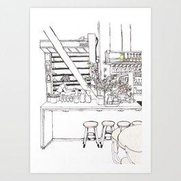Pen + Ink Tartine Manufactory Art Print