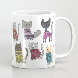 sweater cats Coffee Mug