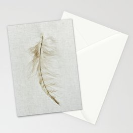 Owl Feather Photograph - Fleeting Stationery Cards