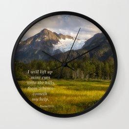 I Will Lift Up mine Eyes Wall Clock