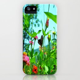 Butterfly with a View iPhone Case