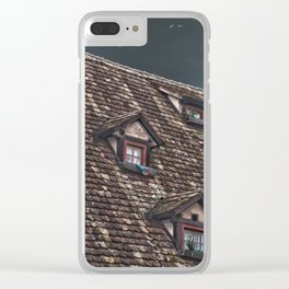 Roof of the Hotel oblique house Ulm Clear iPhone Case