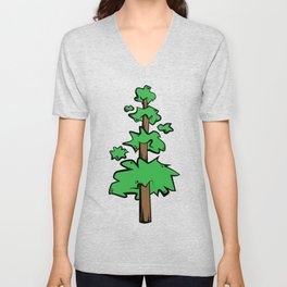 Poof Tree Unisex V-Neck