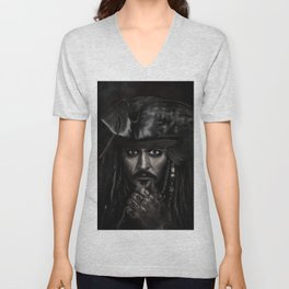 He's a Pirate Unisex V-Neck