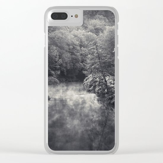 River in Black and Silver Clear iPhone Case