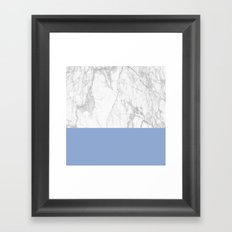 Serenity Marble Framed Art Print