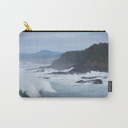 Crashing Waves In Blue Carry-All Pouch
