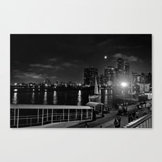 Moonlit Night at Chicago's Navy Pier Canvas Print
