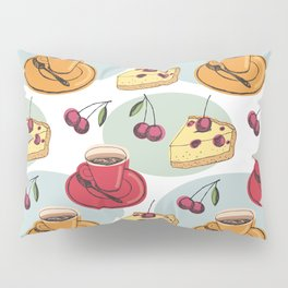 Cherry Pie And A Hot Cup Of Coffee Pillow Sham