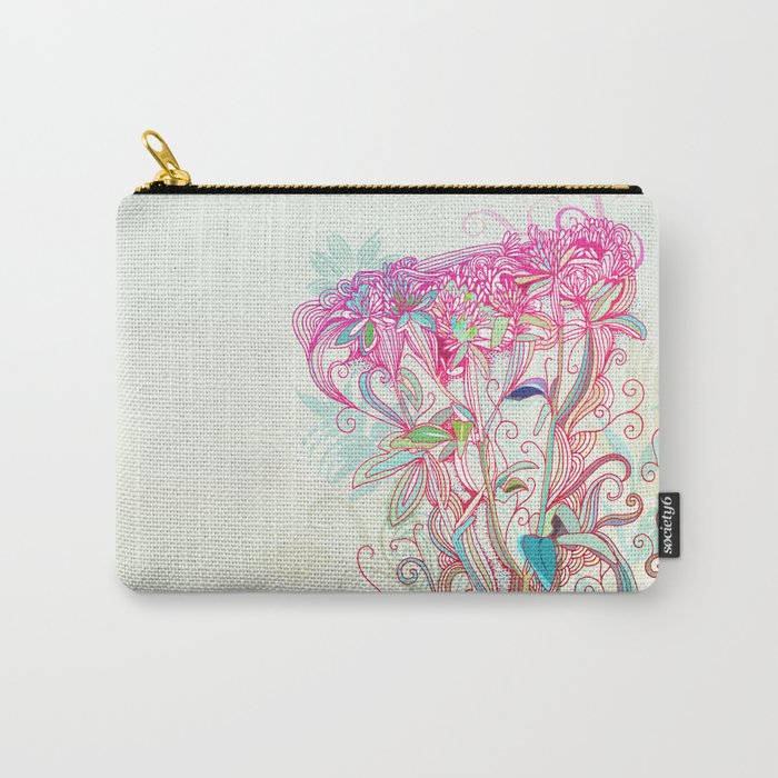 Floral clover Carry-All Pouch